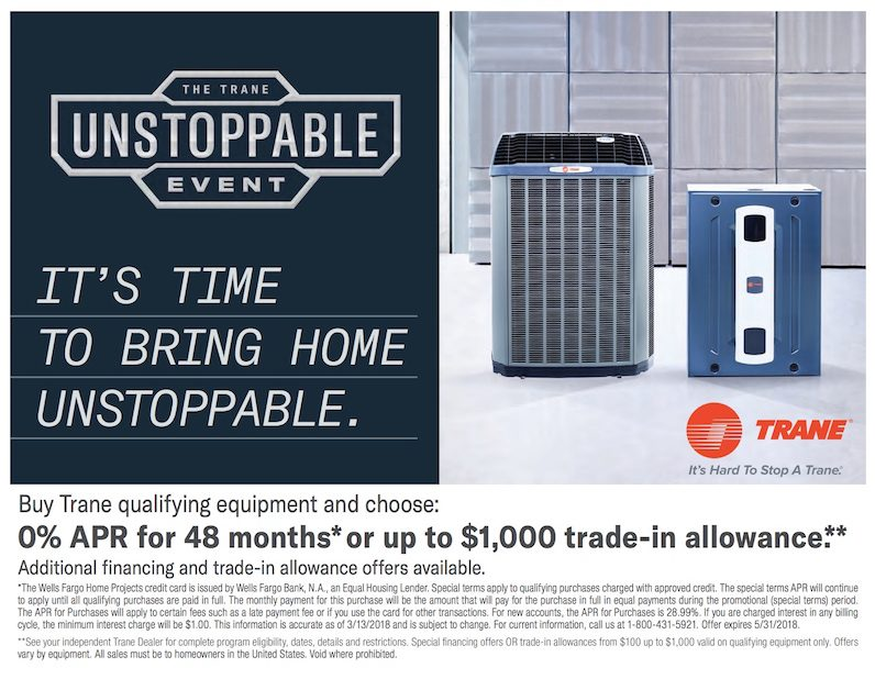 trane equipment promotion
